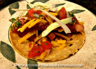 Smoked Brisket Tacos with Ancho Barbecue Sauce and Pico de Gallo