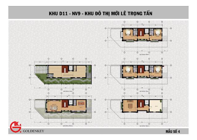 Mẫu thiết kế liền kề số 4, khu NV9, D11, The Green Daisy