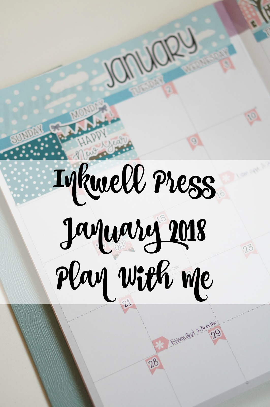 Rebecca Lately Inkwell Press Planner January 2018 Cottage Hill Designs Luckaty Holiday in the Pines