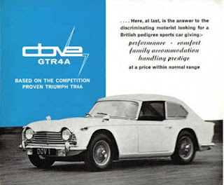 Advert for the Dove GTR4A built by Harrington for the Dove Group
