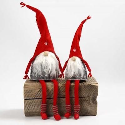 C mo hacer duendes de navidad en tela con moldes for Gnomos navidenos