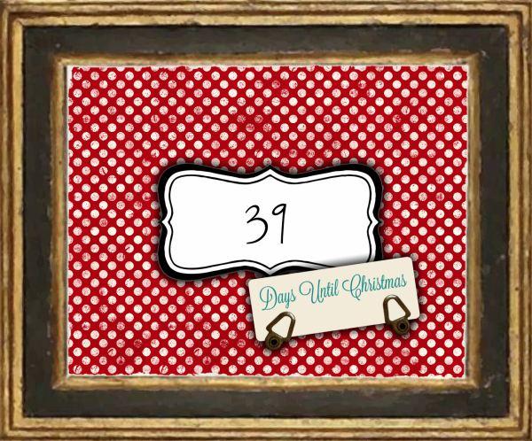 Days Until Christmas Printable.Sweetly Scrapped Free Printable Days Until Christmas
