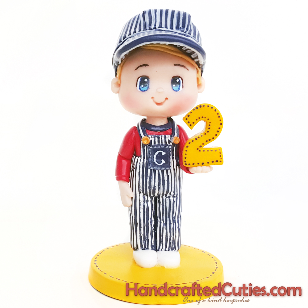 Handcrafted Cuties Chibi Boy In Train Conductor Costume 2nd