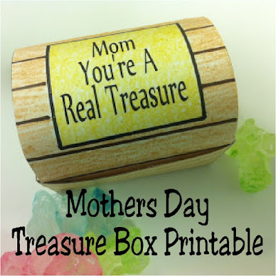 Celebrate the treasure your mom is with a fun Treasure Box Printable that's perfect for Mother's Day. Fill this printable with fun chocolate treasures or other candy treats for a real treat for mom.