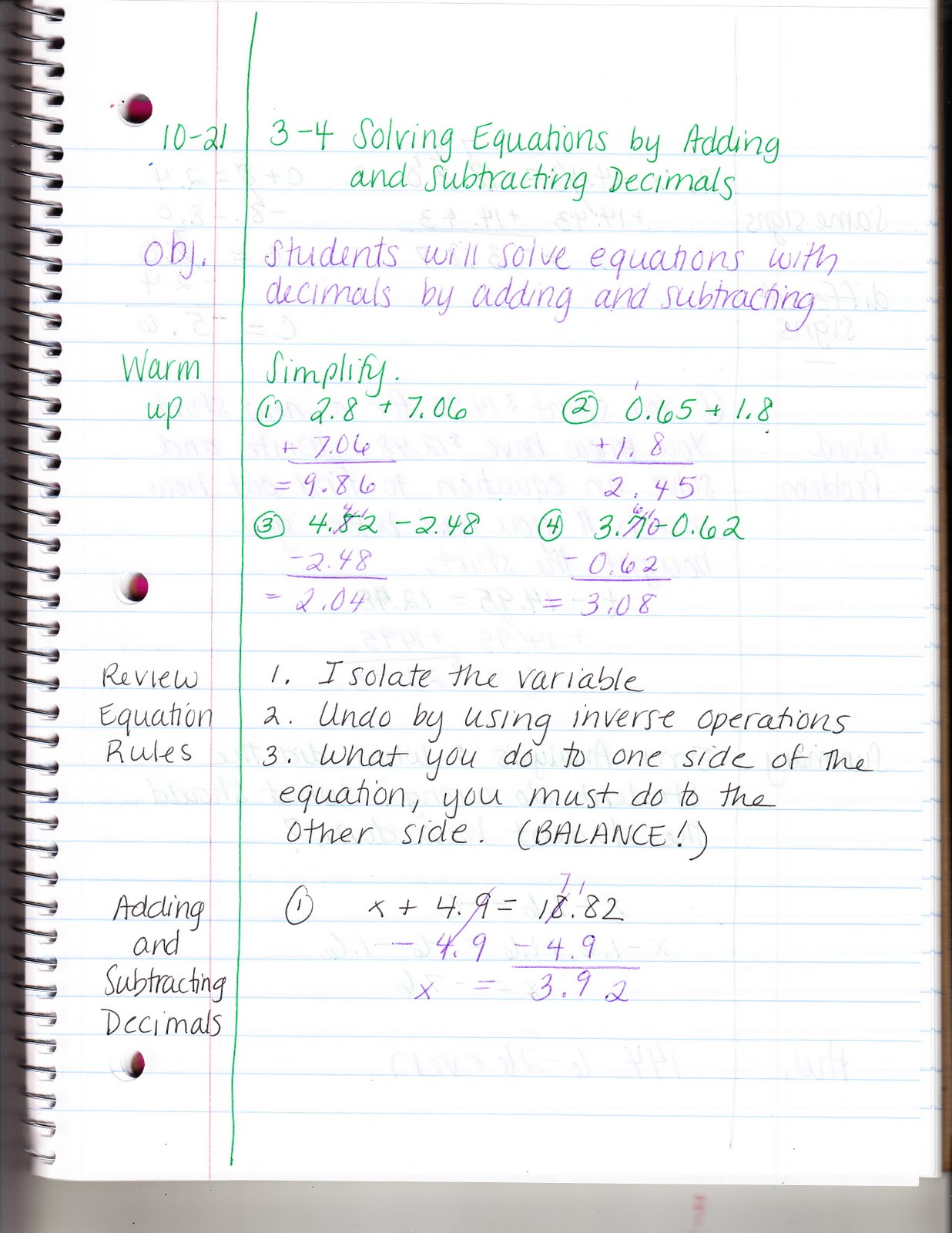 Ms Jean S Classroom Blog 3 4 Solving Equations By Adding