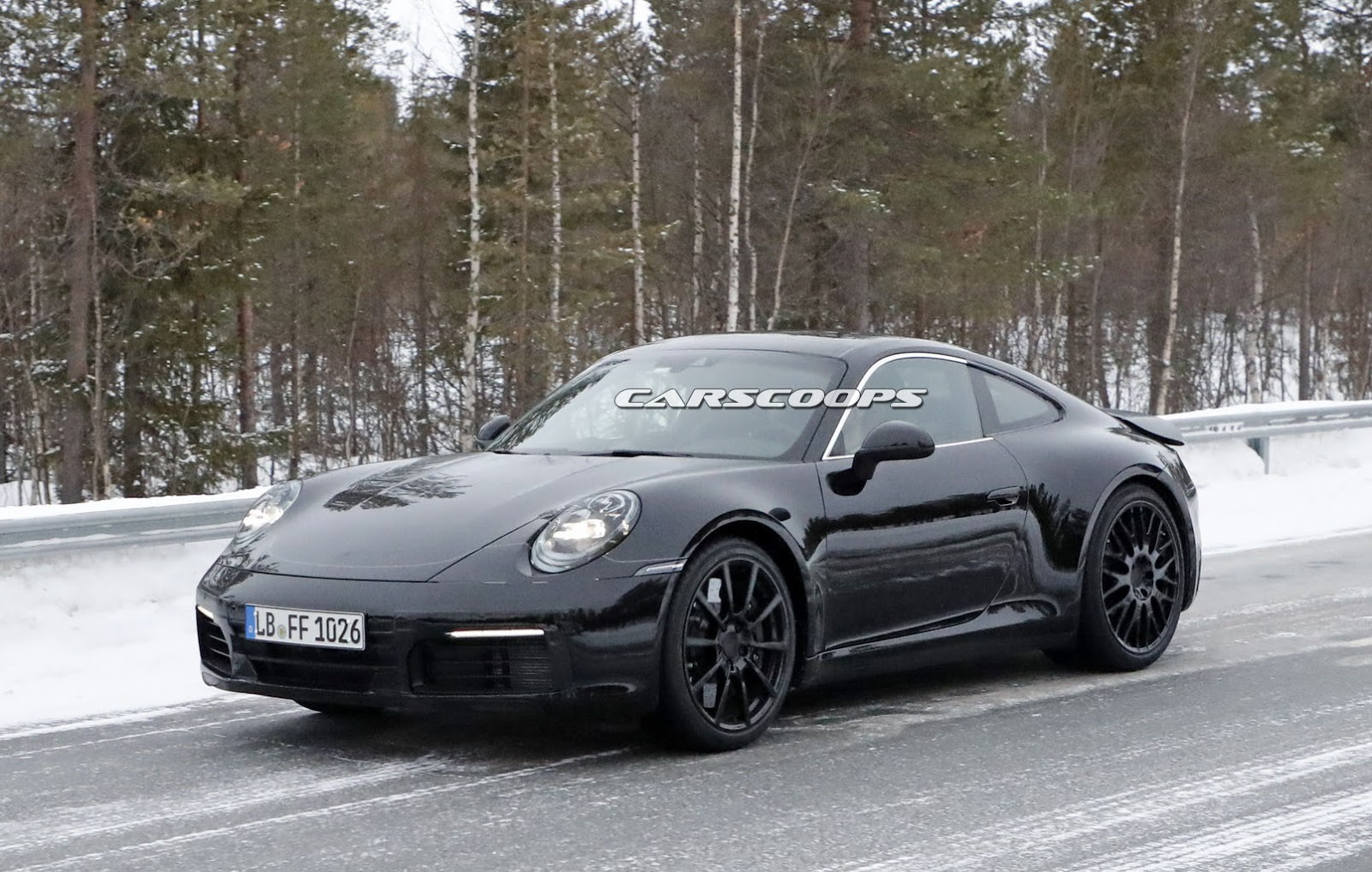 2019 porsche 911 reveals its form but keeps its secrets carscoops. Black Bedroom Furniture Sets. Home Design Ideas
