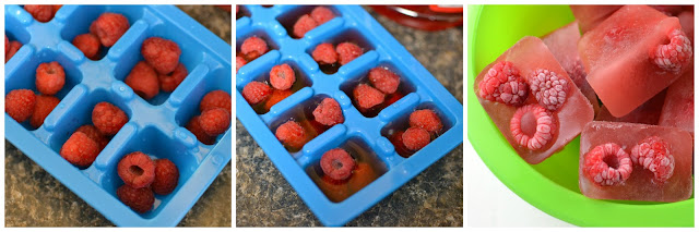 Fun and Spooky idea for Halloween night or any Halloween party! Raspberry Brain Ice Cubes Recipe from Hot Eats and Cool Reads