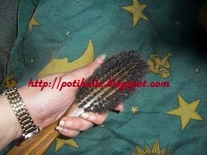 foto real de cepillo de cerdas naturales de jabali