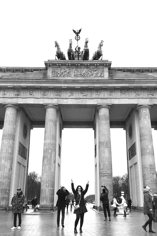 Emma Louise Layla at the Brandenburg Gate in Berlin - travel & lifestyle blog