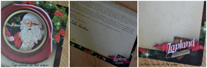 Personlised santa letter from laplandmailroom.com @ ups and downs, smiles and frowns
