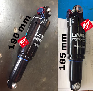 Rear Shock Suntour Unair 165mm atau 190mm Rebound Lock