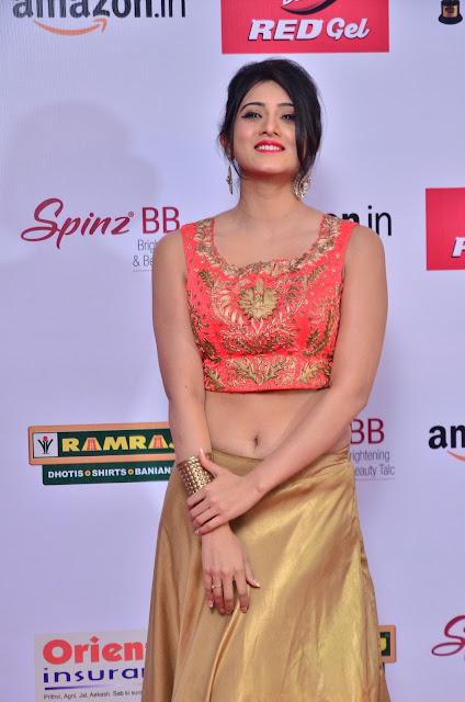 Harshika Poonacha at Mirchi Music Awards