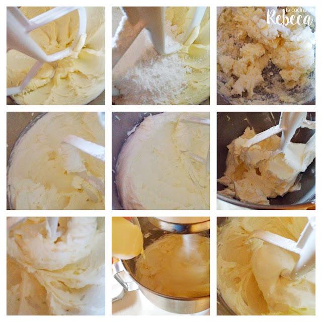 Receta tarta abecedario de galleta y crema: preparación de la crema