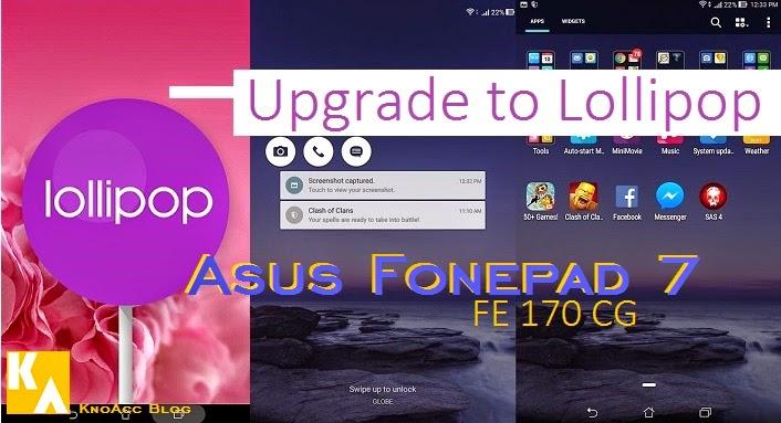 ASUS Fonepad 7 dapat update lollipop