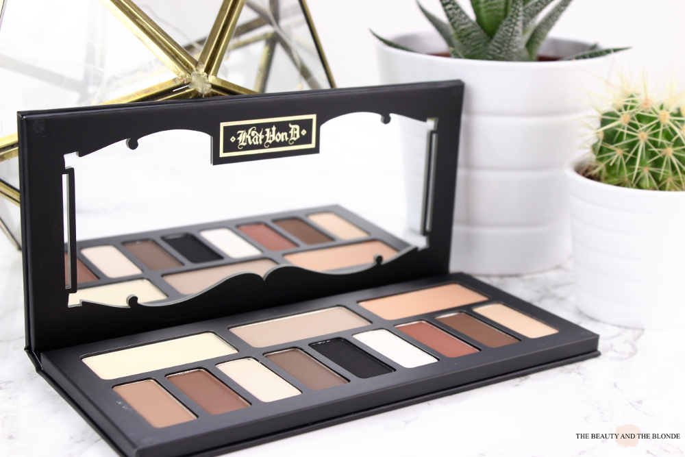 Kat von D Shade and Light Eye Palette Review Swatches Packaging Mirror Matte Eyeshadow
