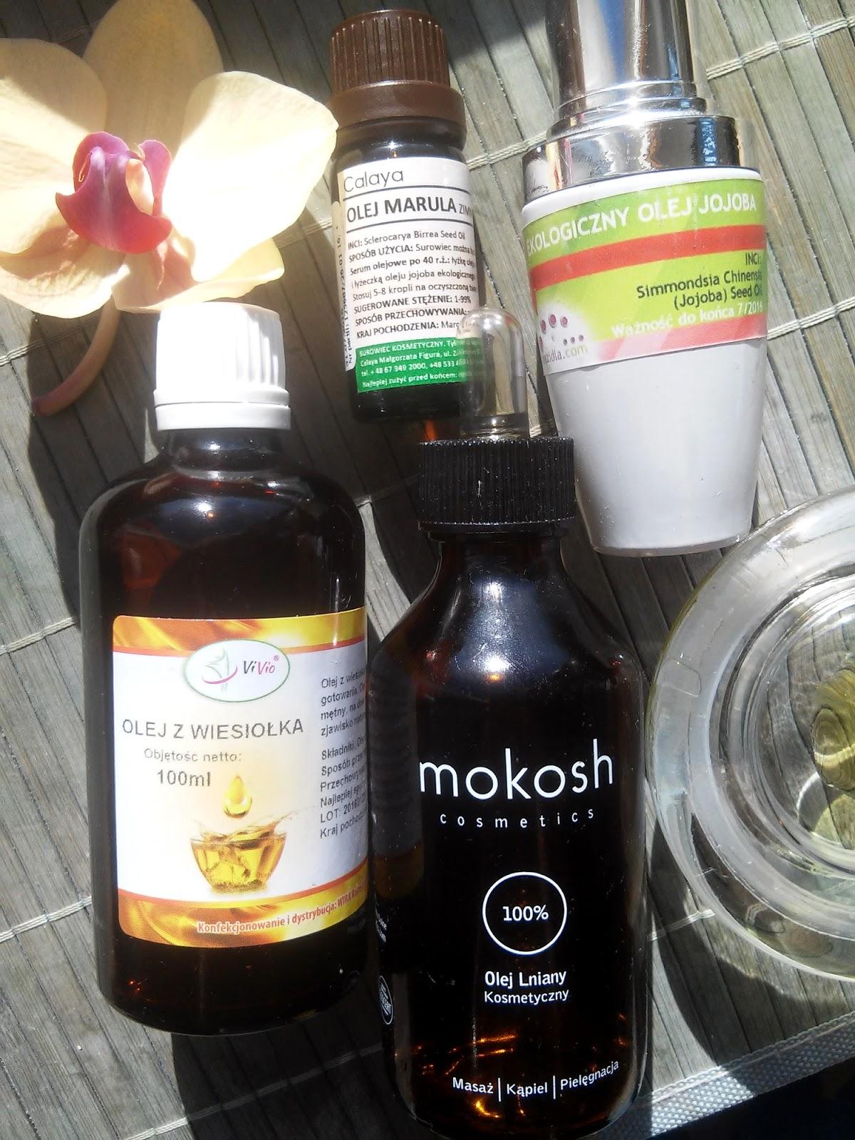 Jak stosować olej z wiesiołka, marula, lniany, jojoba