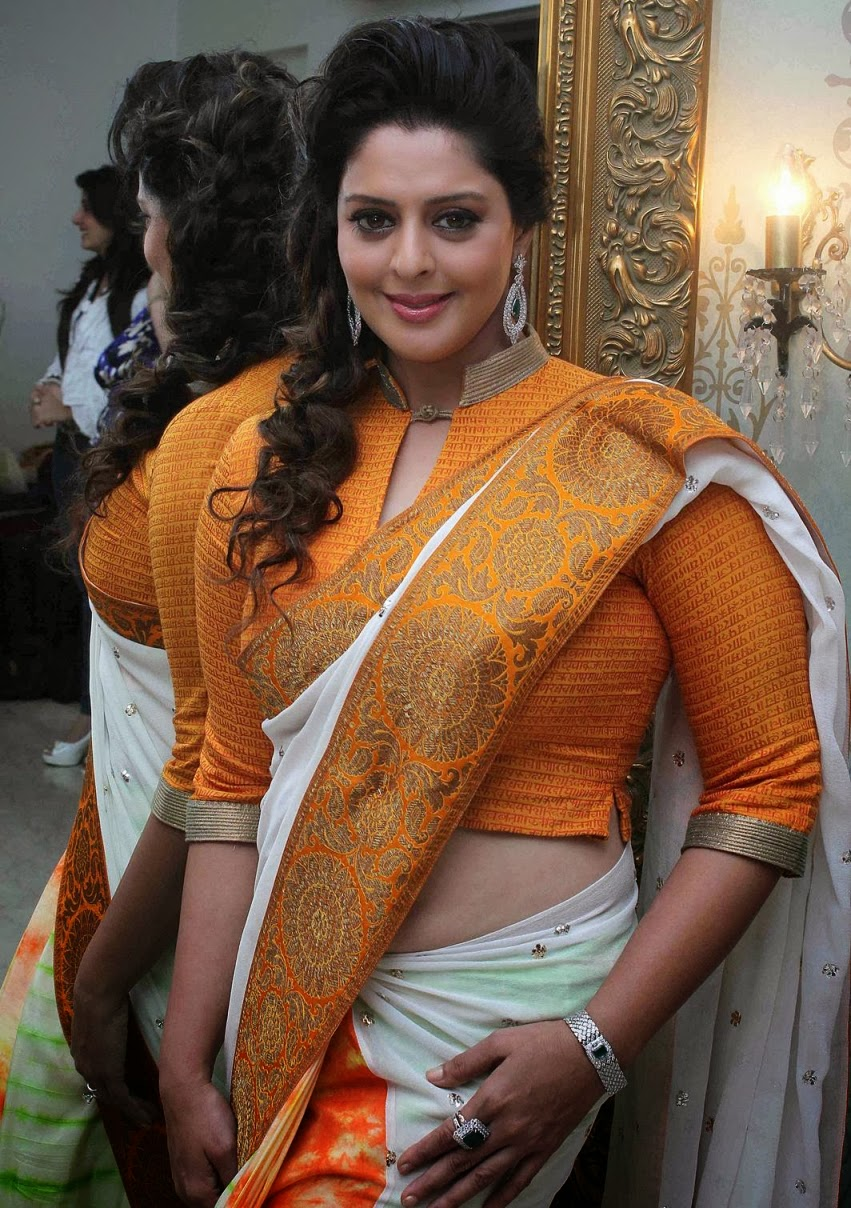 Nagma hot Saree Stills ~ High Resolution Pictures
