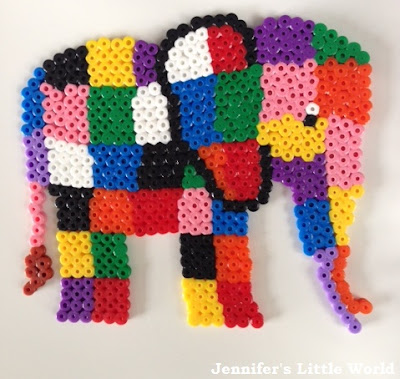Elmer Elephant made from Hama beads