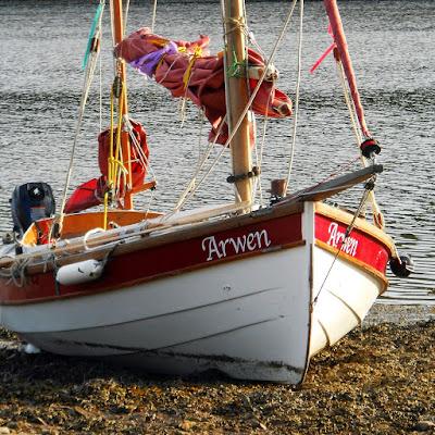 John Welsford navigator Arwen on river Lynher