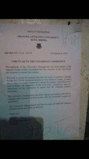 OAU Snubs ASUU Strike, Continues With Academic Activities