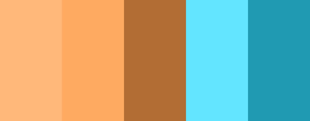 color palette del Teal&Orange.