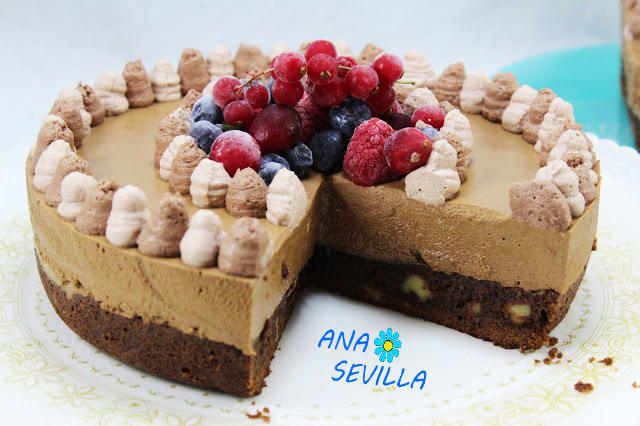 Tarta mousse de chocolate con brownie olla GM