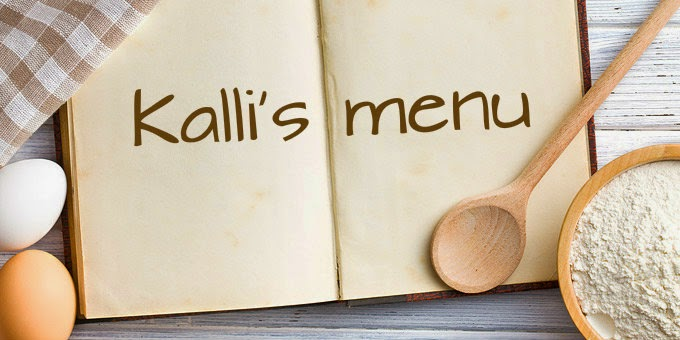 Το μενού του Kalli's blog!!!
