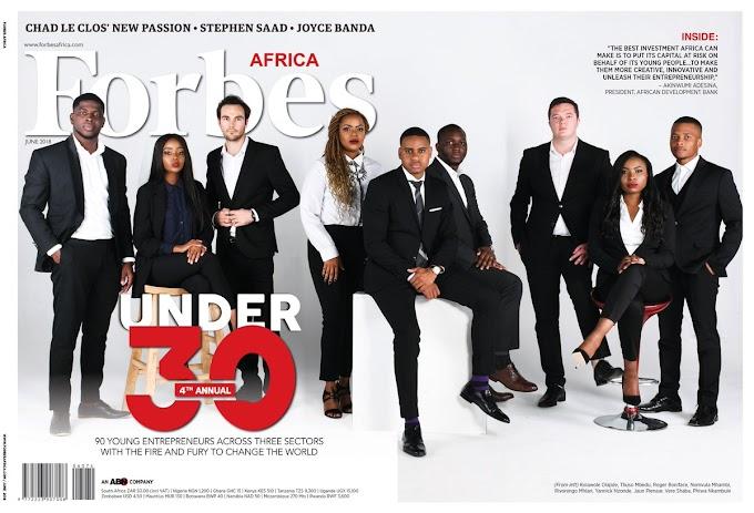 Full List of Honourees in Forbes Africa's 30 Under 30 List for 2018