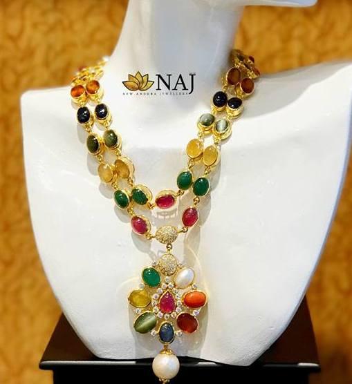 Two Layer Navaratan Set by Naj