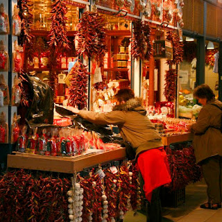 Paprika vendor at the Great Market Hall in Budapest by Takkk