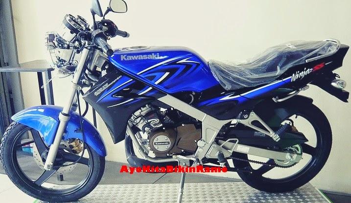 Gambar Kawasaki Ninja 150 SS Warna Biru