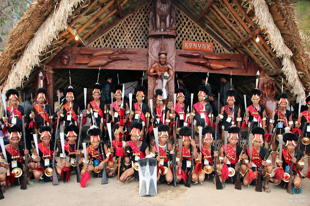 Konyak Nagas Muzzle Loading Gun Display