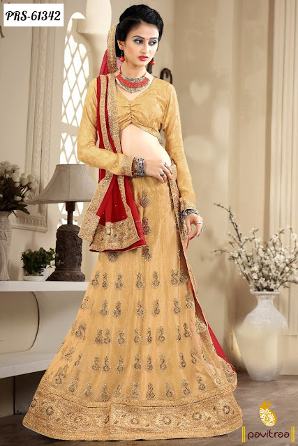 beige color beige chiffon lehenga style online shopping at below price 2440 rupees