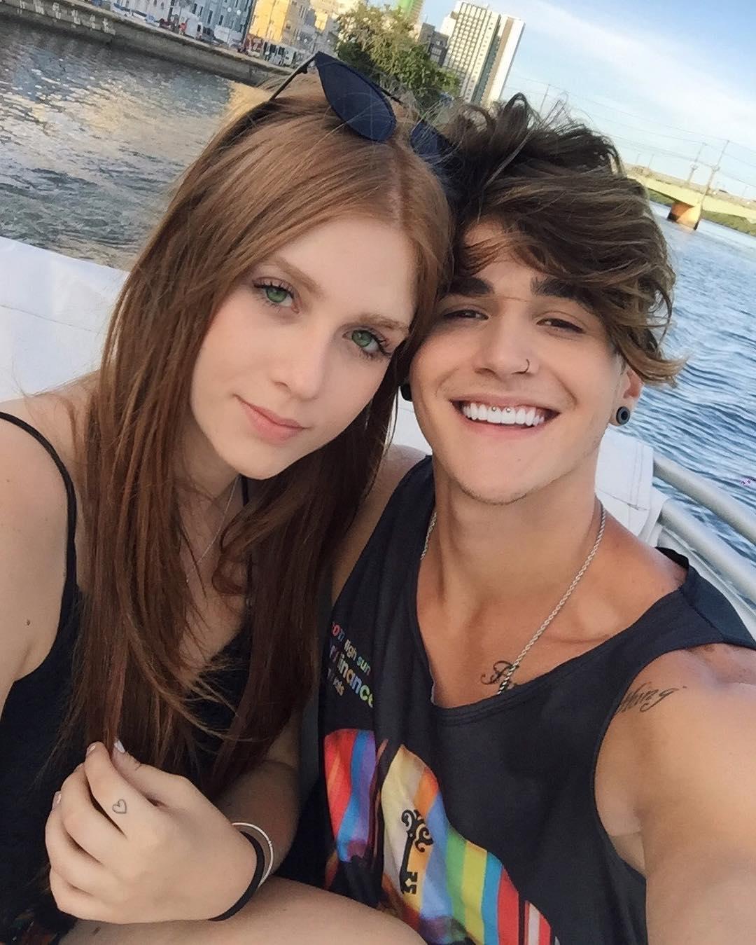 Alex Mapeli with his girlfriend Flavia Charallo