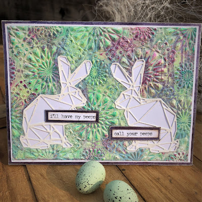 Sara Emily Barker https://sarascloset1.blogspot.com/2019/04/my-peeps-will-call-yours-another-easter.html  #timholtz #sizzix #geospringtime #kaleidescope3Dembossing #oxidespray (1)
