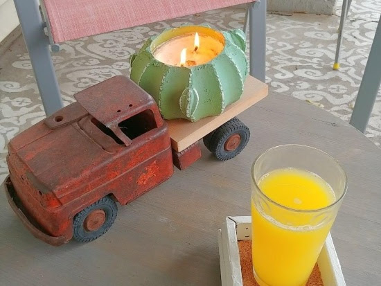 Upcycled Fence Post Cap Coasters