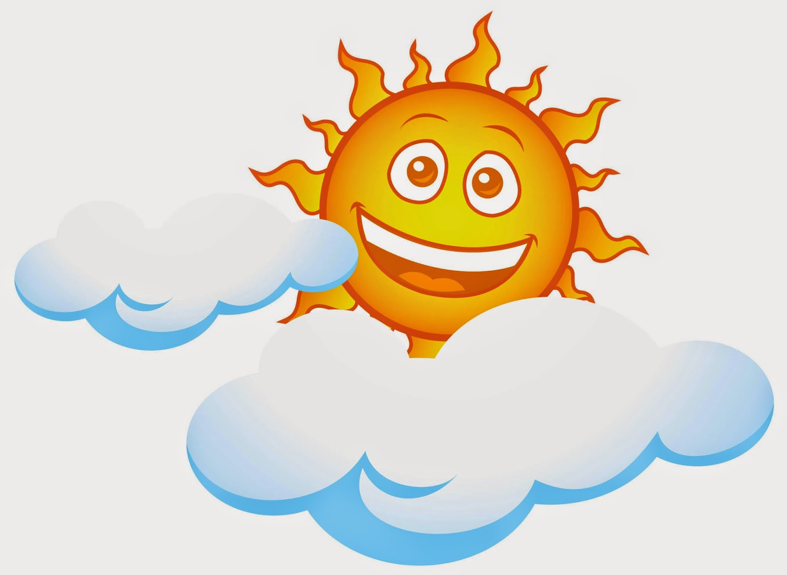 Kumpulan Gambar Kartun Awan Dan Matahari