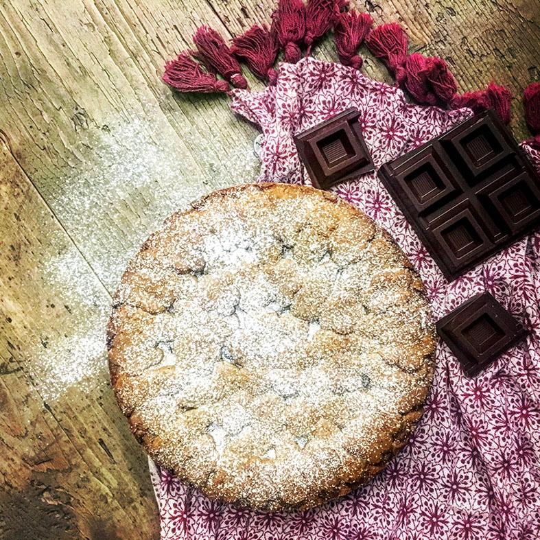 Crostata ricotta, cioccolato fondente e zenzero candito