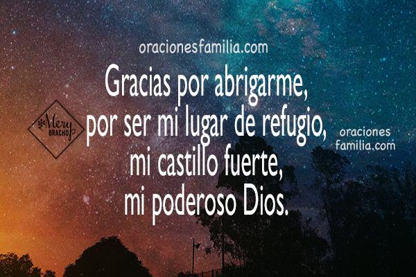 imagen de oracion para la noche de descanso, gracias a Dios por la noche oraciones por Mery Bracho
