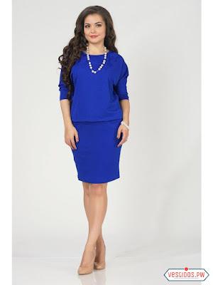Vestido azul de bautizo
