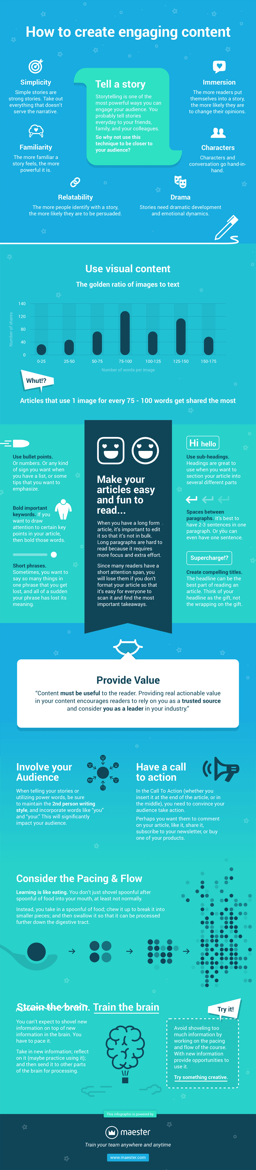 How to Create Engaging Content - #infographic