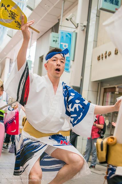 天翔連、高円寺パル商店街での流し踊り、男踊りの写真 7