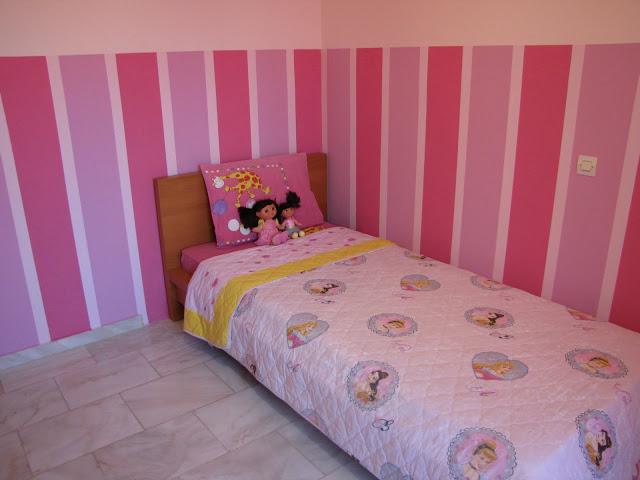 Oδηγίες για να φτιάξεις ρίγες στον τοίχο για το παιδικό δωμάτιο και όχι μόνο