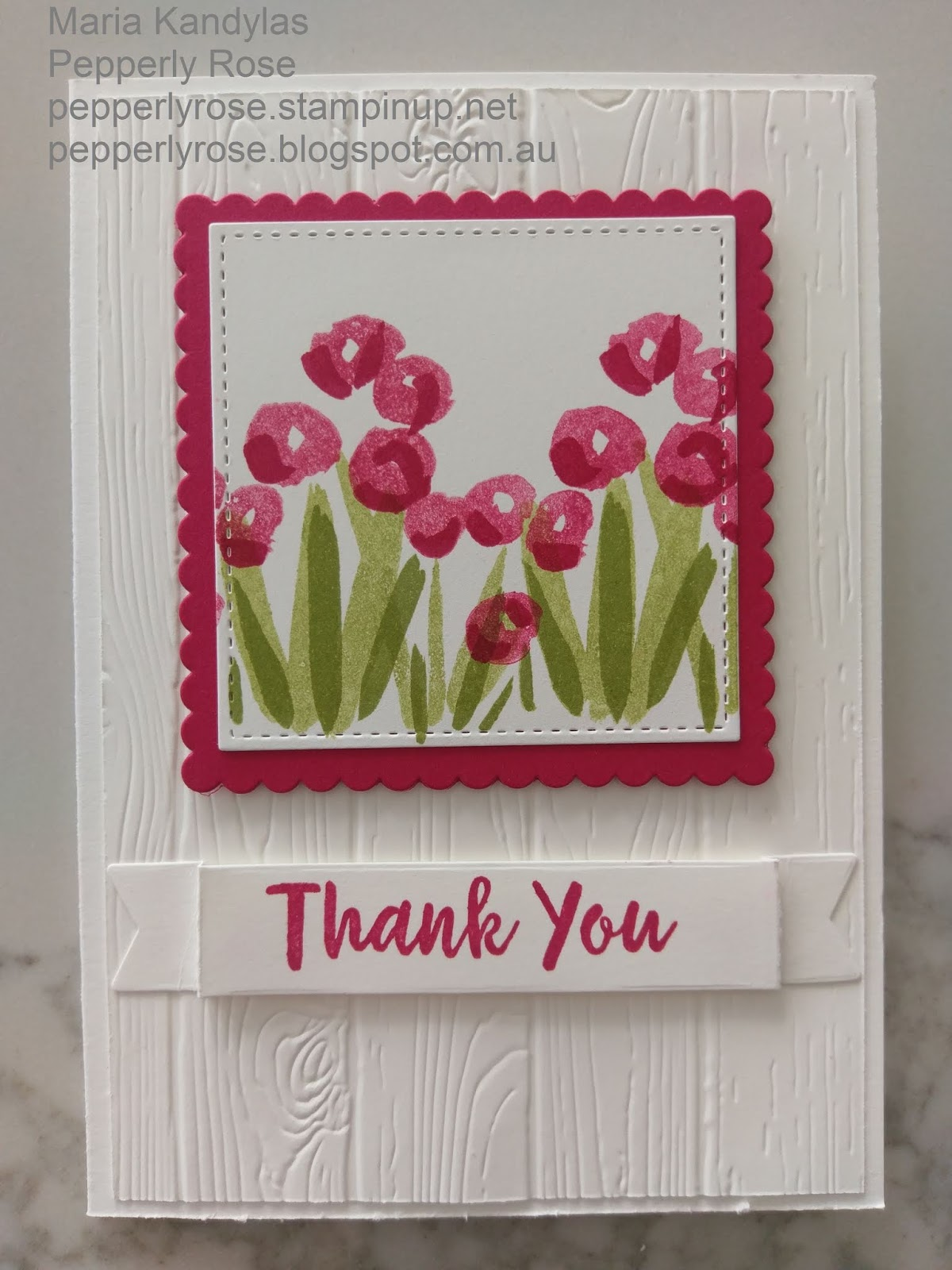 Pepperly Rose Maria Kandylas Independent Stampin Up
