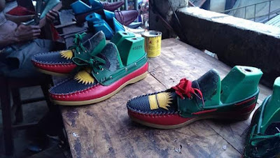 Have You Seen This Trending Biafran Made Shoes? See Photos