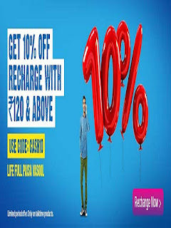Telenor Offer Get 10% off on Recharge with Rs. 120 & above