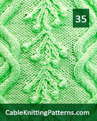 Cable Panel 35. Skill Level: Advanced knitter and up. Knit with 50 stitches and 28-row repeat.