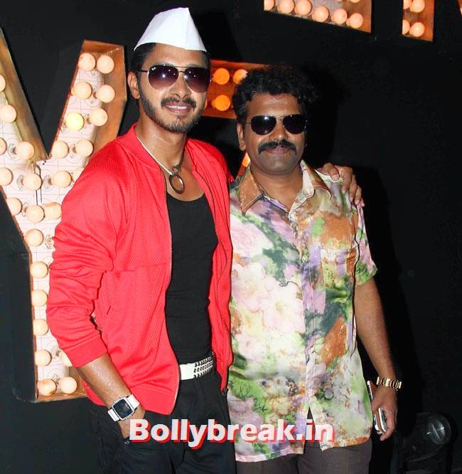 Shreyas Talpade and Hrishikesh Joshi, Pooja Sawant at Poshter Boyz Song Shoot
