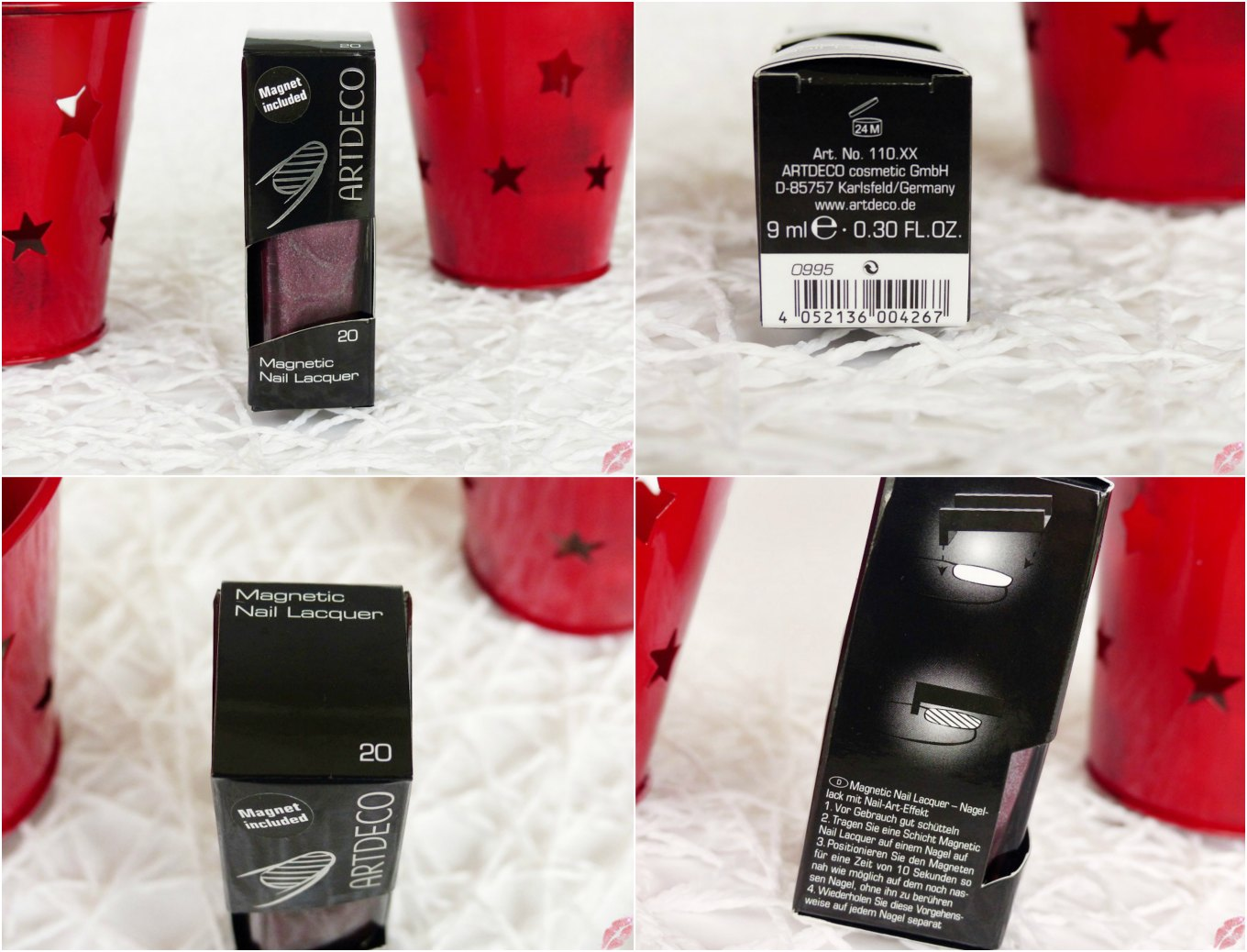 Nails] ARTDECO Magnetic Nail Lacquer - 20 Cranberry Juice - TiaMel