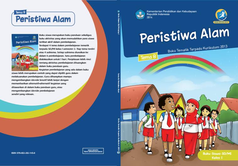 Download Buku Tematik Kurikulum 2013 SD/MI Kelas 1 Tema 8 Peristiwa Alam Edisi Revisi Format PDF